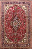 7x10 Vintage Hand-Knotted Traditional Geometric Oriental Living Room Area Rug