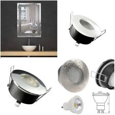 IP65 Bathroom Downlight Round 3 Colour GU10 5 / 7 Watt COB LED Bulb K3000 warm