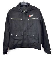 INDEPENDENT TRUCK CO Men Small Chore Cotton Jacket Black Overshirt Skater Coat S