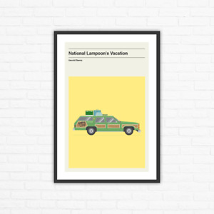 National Lampoon's Vacation Minimalist Mid Century Movie Poster, Harold Ramis