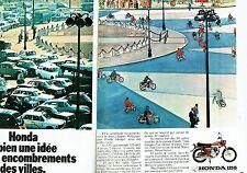 PUBLICITE ADVERTISING 037  1972  moto Honda 125 S ( 2 pages) 125CM3