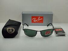 RAY-BAN SUNGLASSES RB3498 002/71 BLACK FRAME/GREEN CLASSIC LENS 61MM