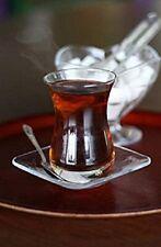 18-TLG Türkisches Tee-Set Mehtap-Sultan 6 Teegläser 6 Untersetzer 6 Teelöffel