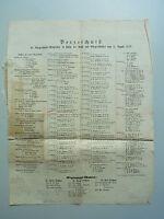 Einblattdruck (57x37 cm) HAMBURG 1859: Verzeichnis Mitglieder BÜRGERSCHAFT. Wahl