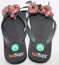 Hotflops Football Flip Flops Beach Sandals Thongs slip on Size 6-7 adults