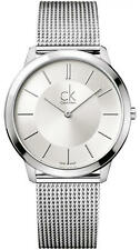 Men's Calvin Klein ck Minimal Mesh Band Watch K3M21126