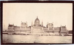 Hongrie, parlement de Budapest Vintage albumen print,  Tirage citrate  7x11