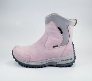 MERRELL Tundra Pink Suede Polartec Waterproof Boots Size Women's 6.5