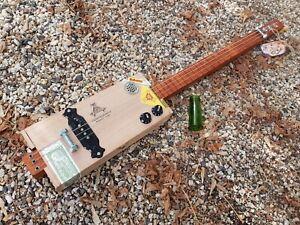 CIGAR BOX GUITAR - 3- STRING- LAP STEEL CRAFTED BY SALTY DOG CBG-FREE SLIDE