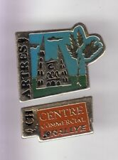 2 RARE PINS PIN'S .. ENTREPRISE HYPERMARCHE GEANT RALLYE PUZZLE CHARTRES 28  ~D2