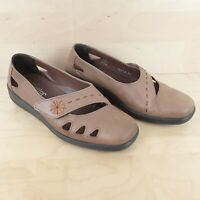 HOTTER BLISS WOMENS LADIES BROWN LEATHER COMFORT CONCEPT SHOES SIZE UK 5.5