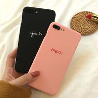 Matte Cute Heart Hard Back Phone Case Slim Skin Cover For iPhone X 8 6s 7 Plus X