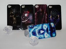 Hard Back Case für iPhone 4 Skull Totenkopf Cyborg Cover Schutz Hülle Etui
