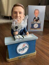 🔥 Vin Scully Broadcaster Dodgers Desk Nontalking SGA Bobblehead Brand New 2012