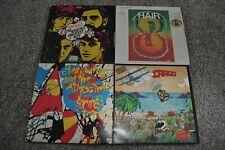 4 Misc Rock Vinyl Records: Rascals, Men at Work, Elvis Costello, & Hair!
