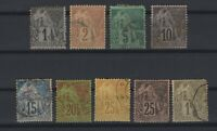 G139432/ FRENCH COLONIES – MAURY # 46 / 47 - 49 / 54 - 59 USED – CV 140 $