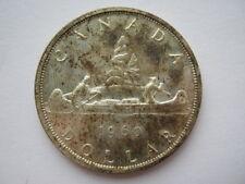 1960 Elizabeth II Canada Silver $1 One Dollar Coin.