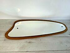 Vintage Mid Century Hanging Wall Mirror Wooden 1960s 1970s Scandinavian Style