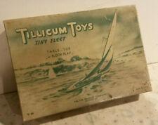 Milton Bradley Tillicum Toys wood tiny fleet table tub floor play T-84 boat 30s
