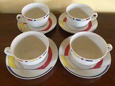 Porcellana Chateau Valmont Francia 4 Tazze Tazza Colazione Tè Cappuccino Latte