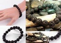 Black Natural LAVA Bead Diffuser Meditation Scent Bracelet Yoga Essential Oil