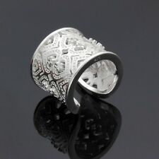 Unique & Elegant Pure 925 Sterling Silver Ring Size: One Size Fit All #026-Z