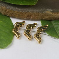 15pcs dark gold tone 2sided wing spacer beads findings h0429