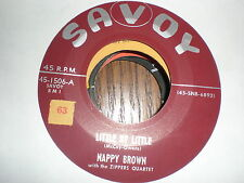 Nappy Brown 45 I'm Getting Lonesome SAVOY