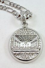 "CELEBRITY Small Silver Plated Last Supper Pendant 24""Chain 35mm Charm Set#7"