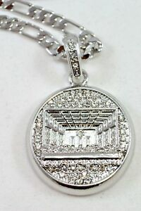 """CELEBRITY Small Silver Plated Last Supper Pendant 24""""Chain 35mm Charm Set#7"""