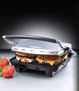 Sunbeam Café Press 4 Slices toasted Grill Breakfast Sandwich Maker Free Shipping