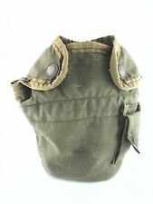 Vintage MILITARY ARMY Pouch Bag CANTEEN Green Fur Lined Collectible RARE