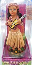 Hawaii Hawaiian Dashboard Hula Doll playing Ukulele movable