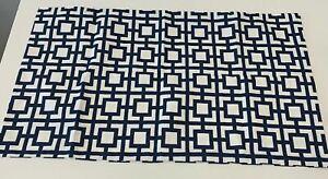 The Pillow Collection KING Pillowcase Navy Callas Geometric Bedding Sham -20x36