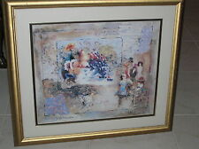 ALEXANDER AND WISSOTZKY MELODY OF THE NIGHT PRINT PICTURE SERIGRAPH ? FRAMED