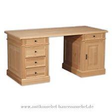 Schreibtisch,Arbeitstisch,Computertisch,Büro PC-Tisch,Holz,massiv,Landhausstil