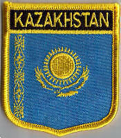 Kazakhstan Country Flag Embroidered Patch T7