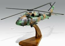Sikorsky S-70 Black Hawk Australian Army Mahogany Wood Desktop Helicopter Model