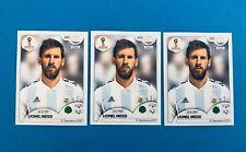 ⚽️ Panini WC Russia 2018 LIONEL MESSI Argentina RC Sticker x3