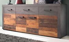 Sideboard Kommode Wohnzimmer Esszimmer Anrichte Old Wood grau Matera Indy 180 cm