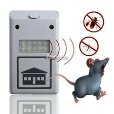 Home Garden Electronic Pest Rodent Repeller Plus 230V Rats Mice B98B