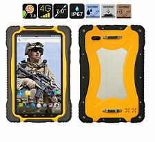 """Yellow 4G LTE  7"""" Smartphone HUGEROCK-T70 RUGGED Tablet Outdoor IP67 Android 7.0"""