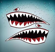 2x Aufkleber sticker auto motorrad Flugzeug Flughafen Luftfahrt pilot shark hai