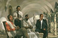 Laminated THE PIONEERS POSTER Mandela - Malcolm X - Obama - Martin Luther King