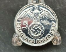 1937 A NAZI GERMANY 5 REICHSMARK - AU/UNC Awesome Silver Coin