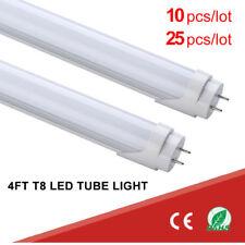 T8 Led Tube G13 4Ft 18W 3000K 4000K 6000K Clear Milky Lens Double-end Power lot