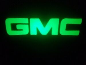 2PC GREEN GMC 5W LED EMBLEM DOOR PROJECTOR GHOST SHADOW PUDDLE LOGO LIGHT