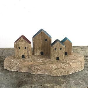 Coastal cottages, rustic wooden shelf decoration, understated home decor art