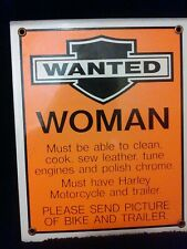 Best Sign Ever '' Wanted'' Heavy Steel