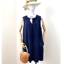 Tommy Bahama Navy Blue Split Neck Dress NWT Beach Wear Sz XL
